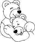 Ausmalbild Malvorlage Liebe Bären