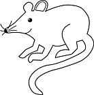 Ausmalbild Malvorlage Maus