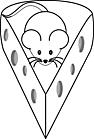 Ausmalbild Malvorlage Maus und Käse
