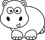 Ausmalbild Malvorlage Nilpferd