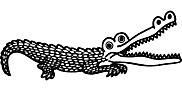 Ausmalbild Malvorlage Krokodil