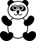 Ausmalbild Malvorlage Pandabär