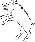 Ausmalbild Malvorlage Schwein