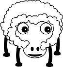 Ausmalbild Malvorlage Schaf