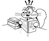 Ausmalbild Malvorlage Comic Eichhörnchen