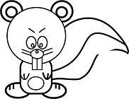 Ausmalbild Malvorlage Eichhörnchen