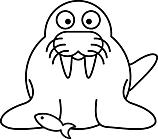 Ausmalbild Malvorlage Seelöwe Seehund Robbe