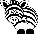 Ausmalbild Malvorlage Zebra