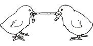 Ausmalbild Malvorlage Kücken mit Wurm