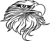 Ausmalbild Malvorlage Adler