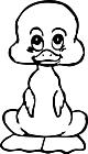 Ausmalbild Malvorlage Ente