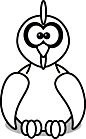 Ausmalbild Malvorlage Huhn