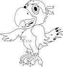 Ausmalbild Malvorlage Papagei Pirat