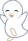 Ausmalbild Malvorlage Pinguin