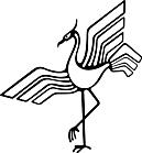 Ausmalbild Malvorlage Kranich Reiher
