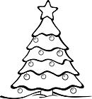 Ausmalbild Malvorlage Weihnachtsbaum / Tannenbaum