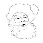 Ausmalbild Malvorlage Weihnachtsmann
