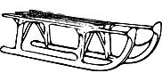 Ausmalbild Malvorlage Schlitten