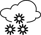 Ausmalbild Malvorlage Schneeflocken