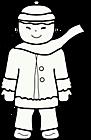Ausmalbild Malvorlage Junge Winter