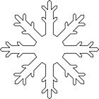 Ausmalbild Malvorlage Schneestern