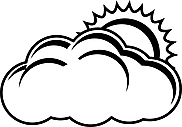 Ausmalbild Malvorlage Wolken und Sonne