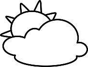 Ausmalbild Malvorlage Wolken