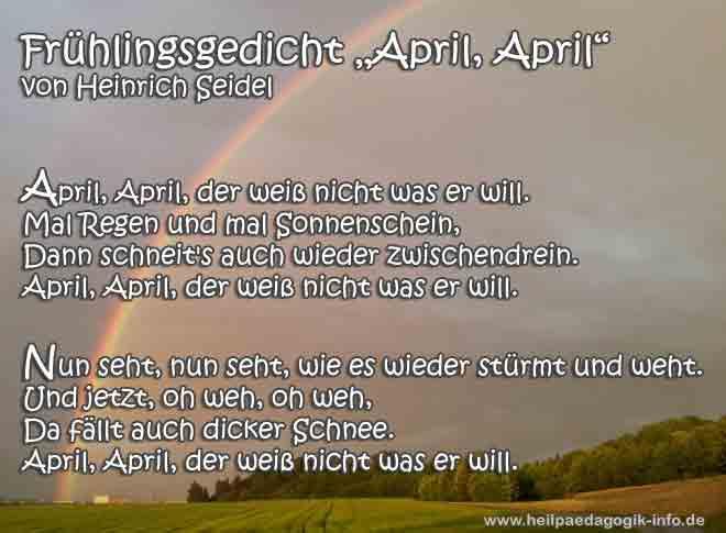 fr252hlingsgedicht april april der wei223 nicht was er will