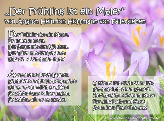 Frühlingsgedicht Der Frühling Ist Ein Maler