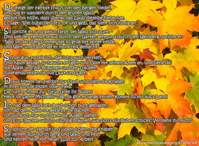 Herbstgedicht Der Herbst Als Färber
