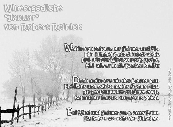 Wintergedicht Januar