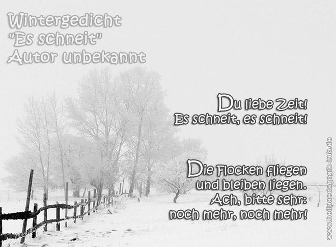 Wintergedicht es schneit for Schnee zitate