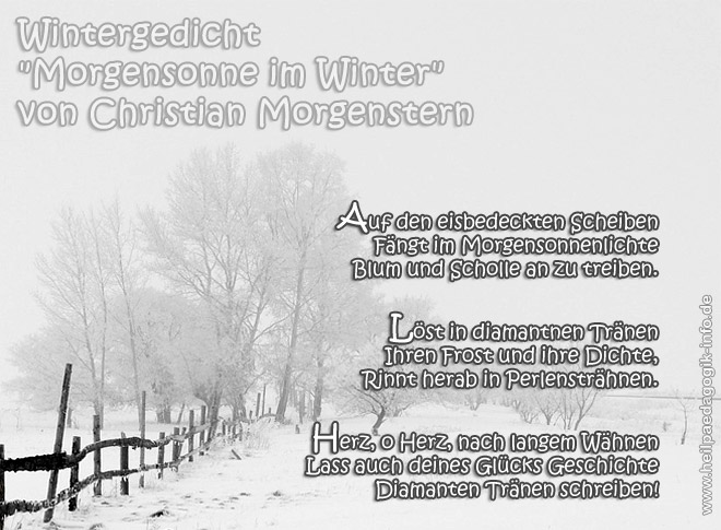 Wintergedicht Morgensonne Im Winter