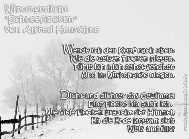 Gedichte weihnachten schneeflocken