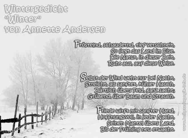 Wintergedicht Winter