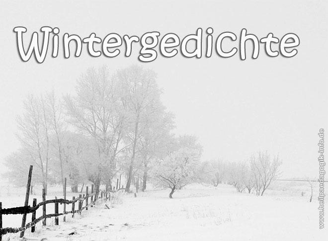 Wintergedichte Für Kinder