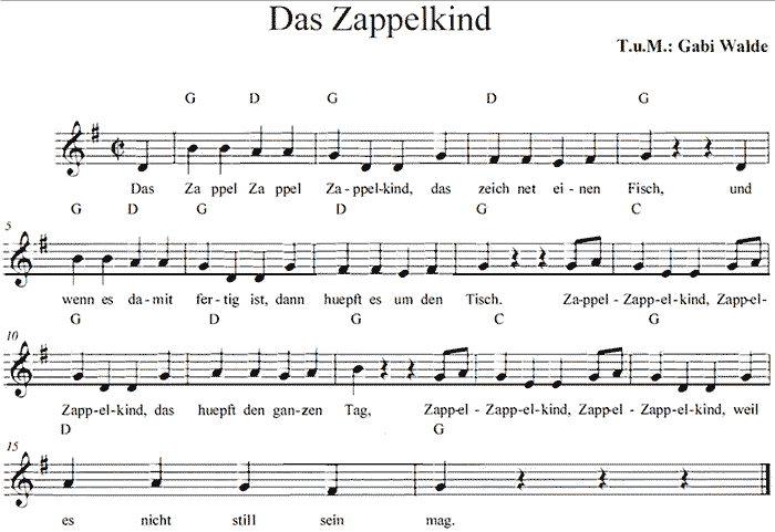 Noten Zappelkind