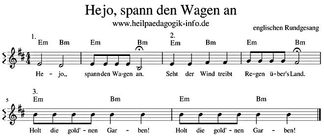 Hejo Spann Den Wagen An Text Noten Download