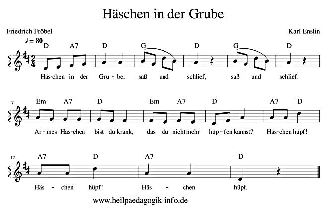 Liedtext Häschen In Der Grube