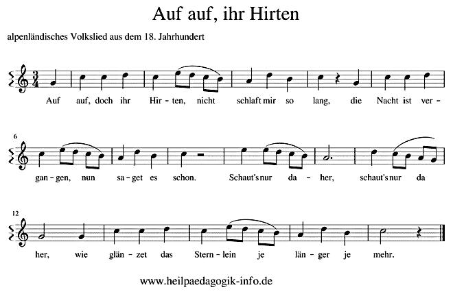 Alpenländische Weihnachtslieder Noten.Auf Auf Ihr Hirten Text Noten Download
