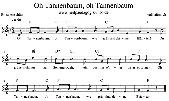 Noten Oh Tannenbaum.O Tannenbaum Text Noten Download