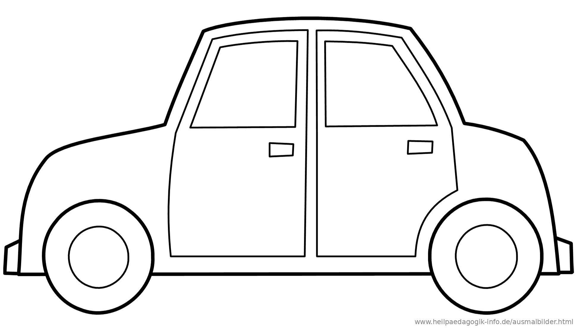 Einfache Malvorlagen Autos | My blog
