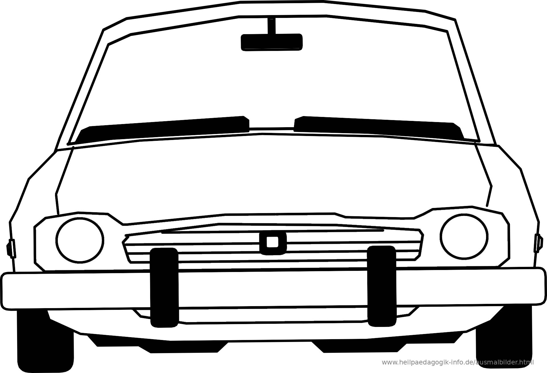 ausmalbild auto  malvorlage gratis
