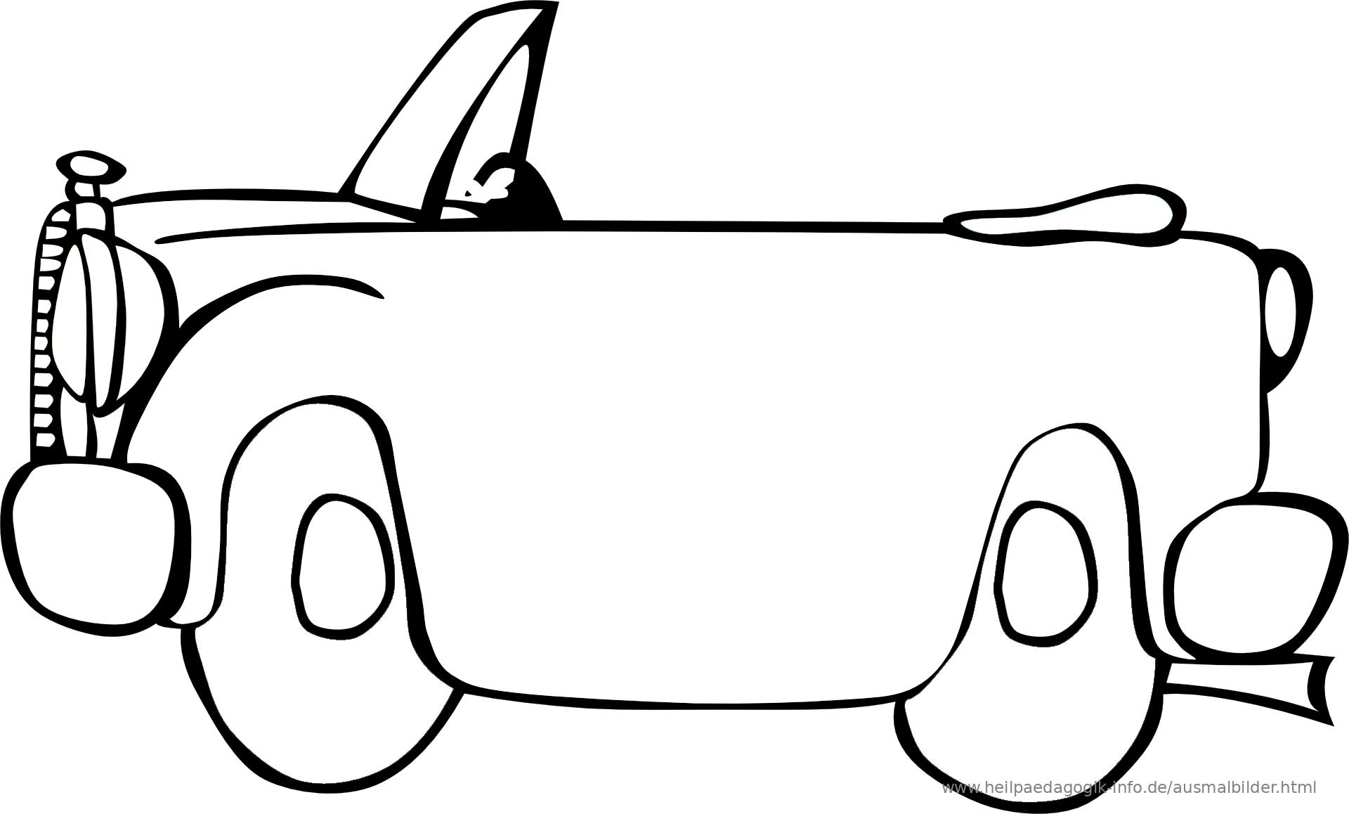 Ausmalbilder Autos - Malvorlagen Kostenlos zum Ausdrucken