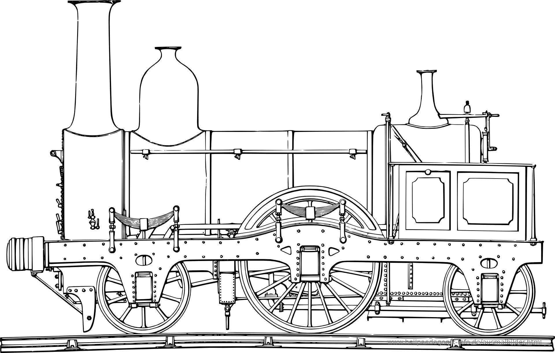 Ausmalbilder Eisenbahn