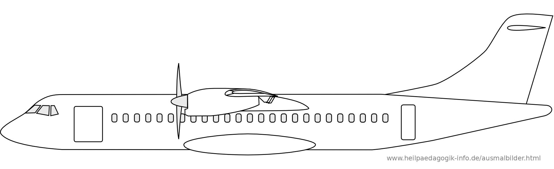 Ausmalbilder Flugzeuge