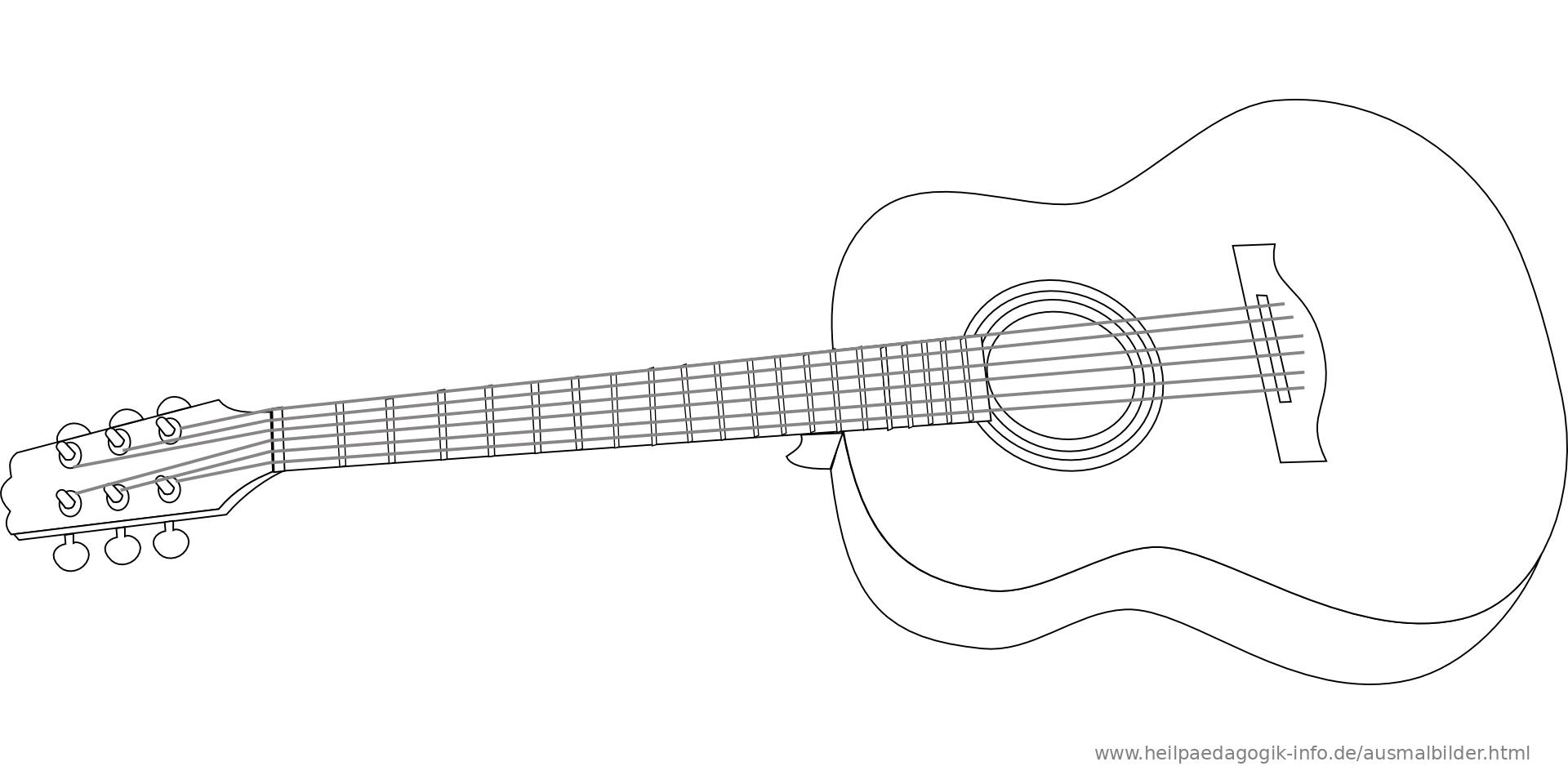 ausmalbild malvorlage Gitarre 701 ausmalbilder musikinstrumente 38