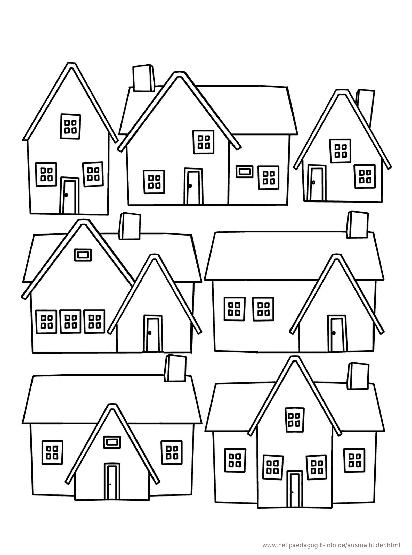 Ausmalbild Häuser Als PDF oder PNG anzeigen