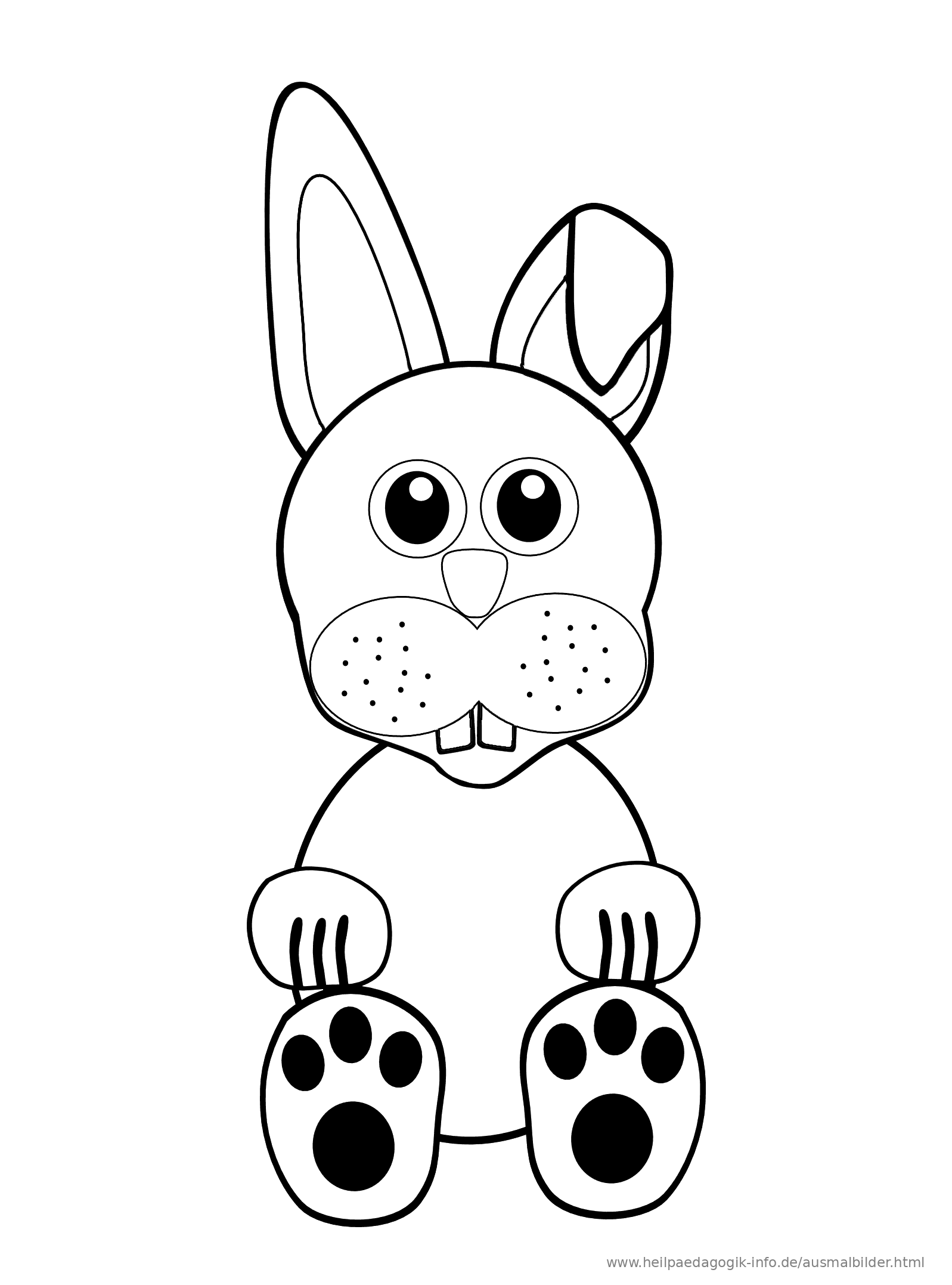 Neu Ausmalbilder Sitzender Hase - Art von Malvorlagen
