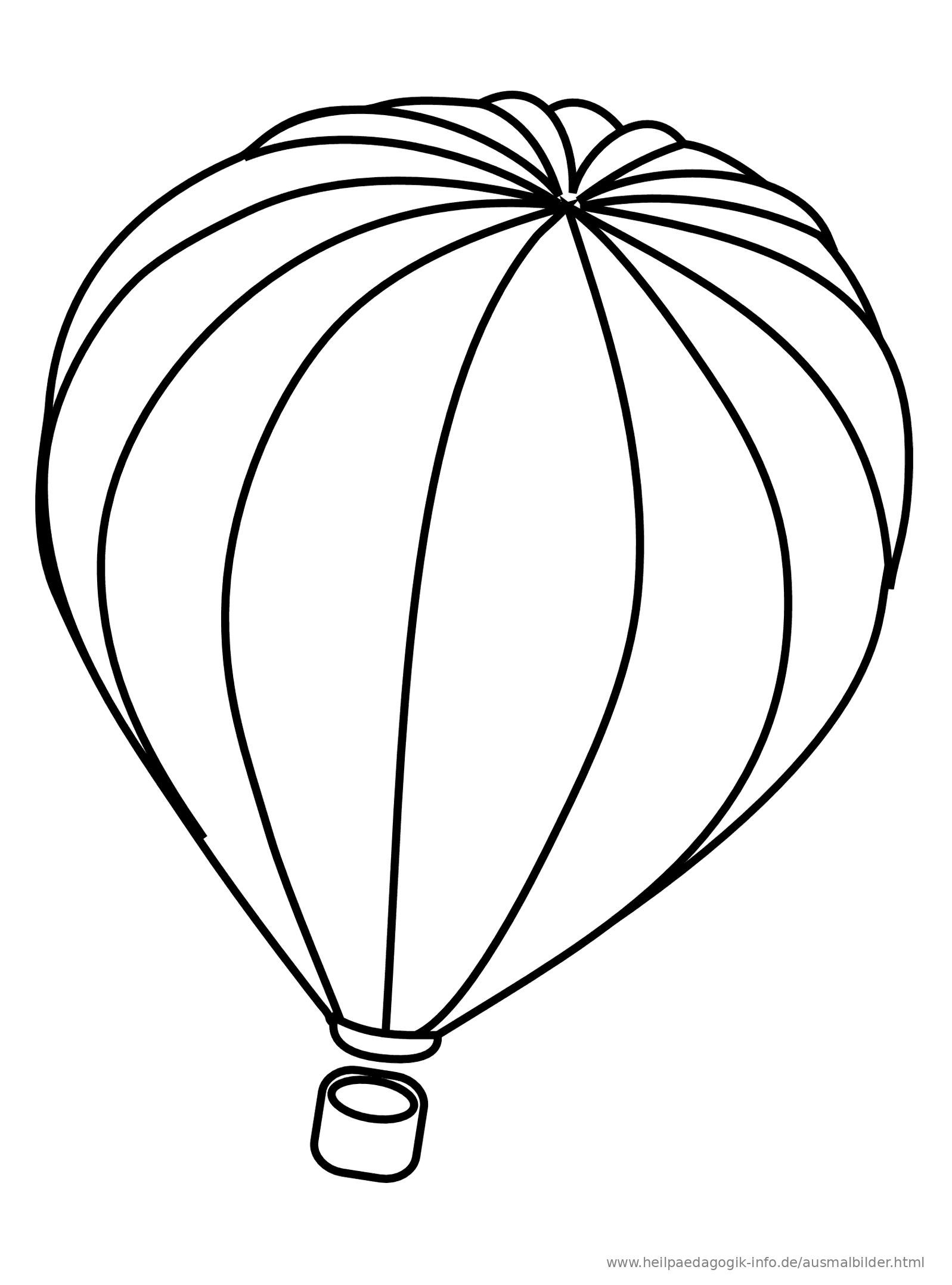 Ausmalbilder Heißluftballons